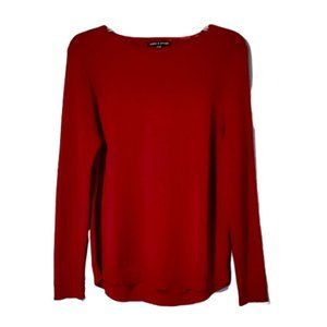 Cable & Gauge Deep Red Knit Sweater
